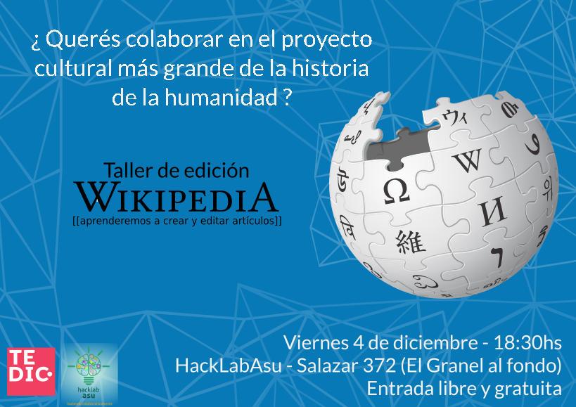 Wikipedia, editemos internet porque es nuestra!